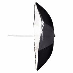 """Schirm flach weiß/Transluzent 85cm (33"""")"""