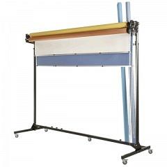 Fahrbarer Ständer zu Aufrollvorrichtung für 4 Papier- / Viny
