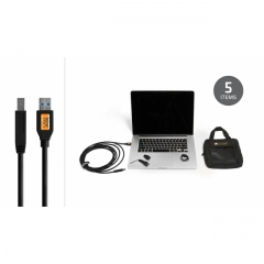 Starter Tethering Kit w/ USB 3.0 SuperSpeed A to B 15' BLK