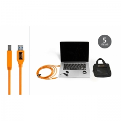 Starter Tethering Kit w/ USB 3.0 SuperSpeed A to B 15' ORG