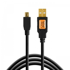 TetherPro USB 2.0 Male to Mini-B 5 pin, 6', BLK