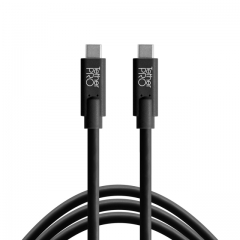 TetherPro USB-C to USB-C, 6' (1.8m), Black