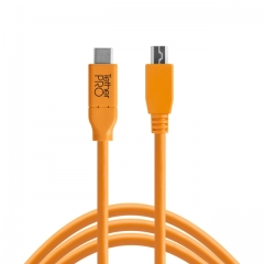 TetherPro USB-C to 2.0 Mini-B 5-Pin, 15' (4.6m) ORG