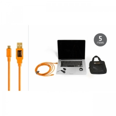 Starter Tethering Kit w/ USB 2.0 Micro-B 5 Pin Cable 15' ORG