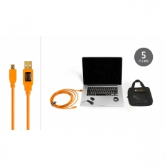 Starter Tethering Kit w/ USB 2.0 Mini-B 5 Pin Cable 15' ORG