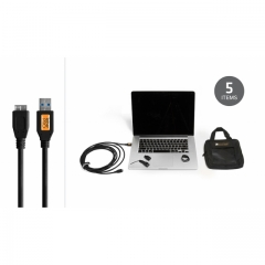 Starter Tethering Kit w/ USB 3.0 Micro-B Cable 15' BLK