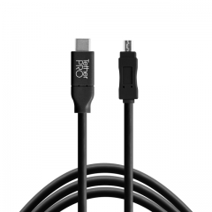 TetherPro USB-C to 2.0 Mini-B 8-Pin, 15' (4.6m) BLK