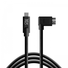 TetherPro USB-C to 3.0 Micro-B Right Angle, 15' (4.6m), Blac